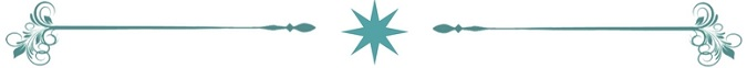 Teal Star Divider 675x62