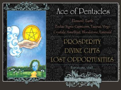 Ace of Pentacles Tarot Card Meanings Rider Waite Tarot Deck