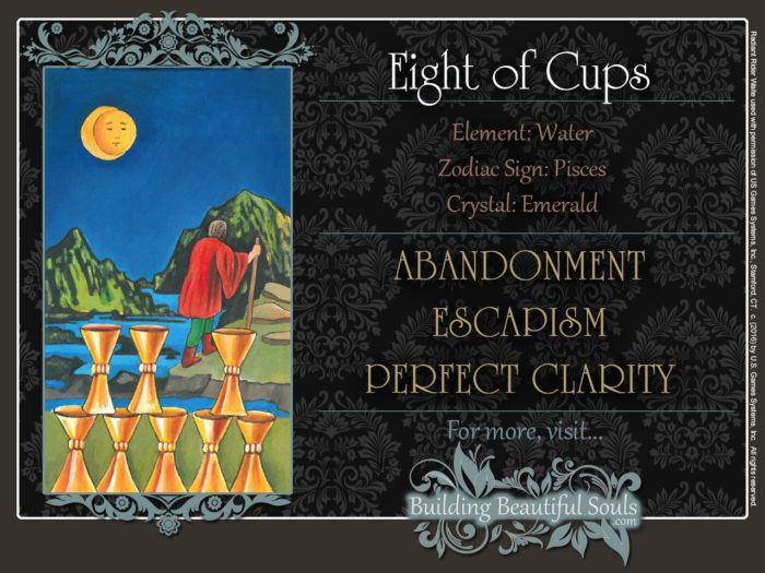 Eight of Cups Tarot Card Meanings Rider Waite Tarot Deck 1280x960