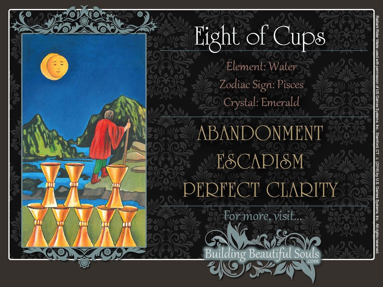The Eight of Cups Tarot Card Meanings | Tarot Reading