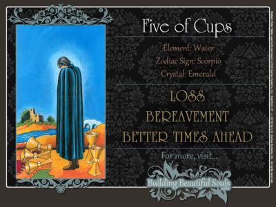 Five of Cups Tarot Card Meanings Rider Waite Tarot Deck