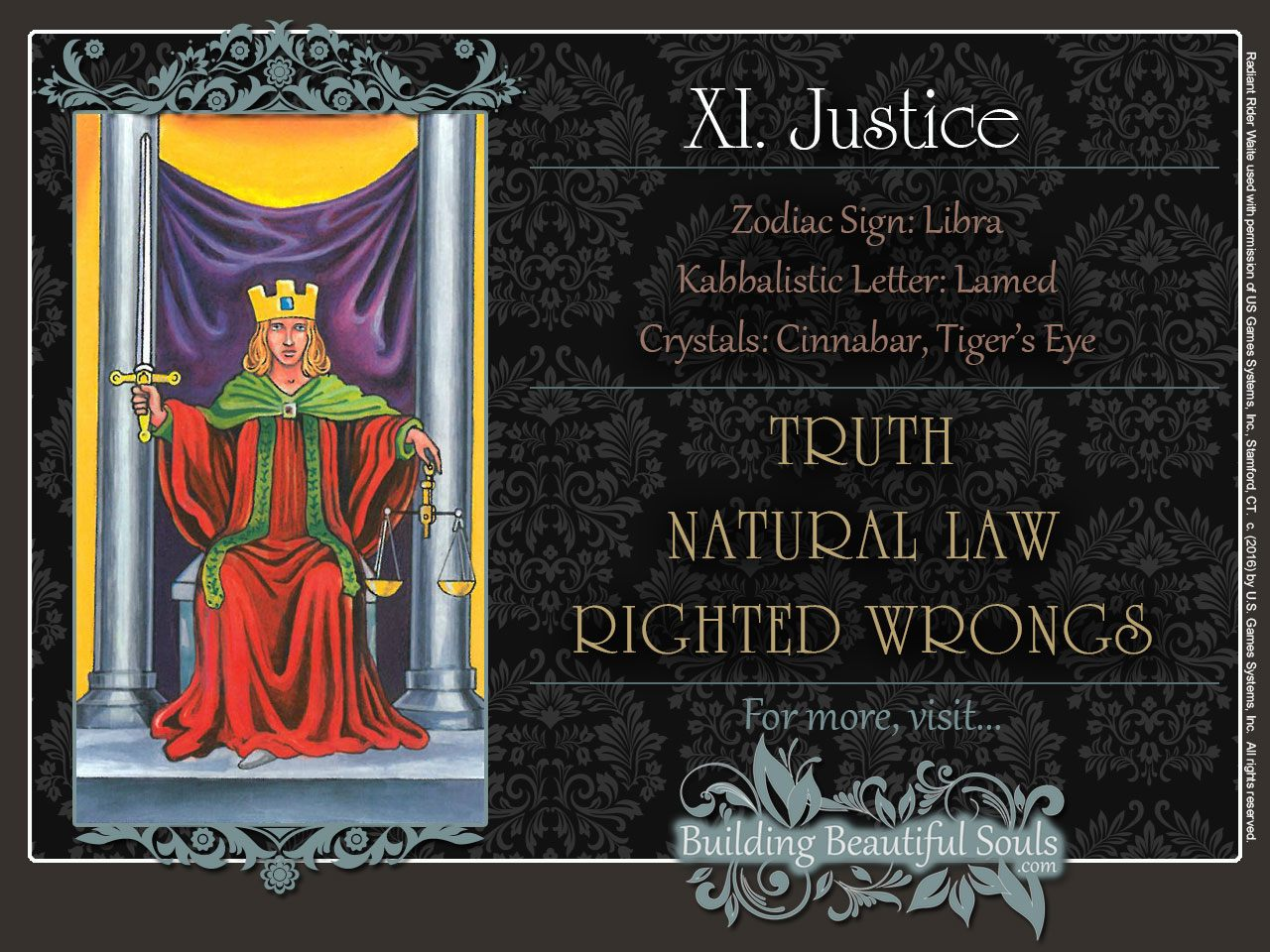 Upright Justice Card Meaning