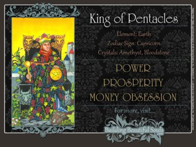 King of Pentacles Tarot Card Meanings Rider Waite Tarot Deck