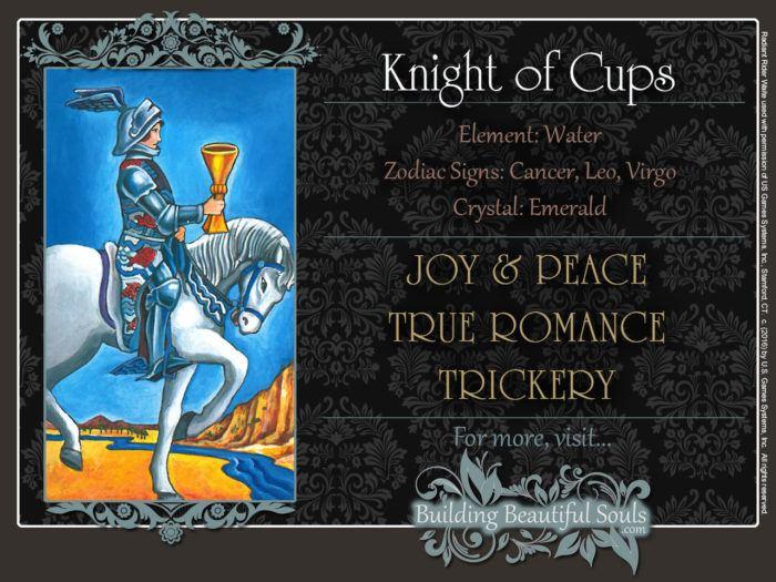 Knight of Cups Tarot Card Meanings Rider Waite Tarot Deck