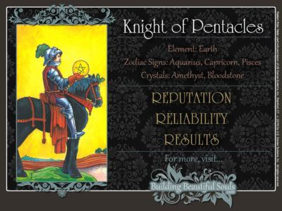 Knight of Pentacles Tarot Card Meanings Rider Waite Tarot Deck