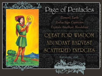 Page of Pentacles Tarot Card Meanings Rider Waite Tarot Deck