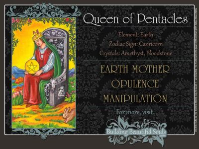 Queen of Pentacles Tarot Card Meanings Rider Waite Tarot Deck