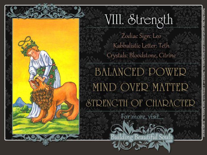 Strength Tarot Card Meanings Rider Waite Tarot Deck 1280x960