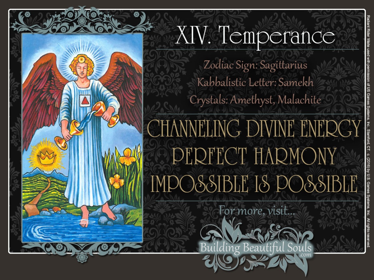 Temperance Tarot Card Meanings Rider Waite Tarot Cards Deck 1280x960