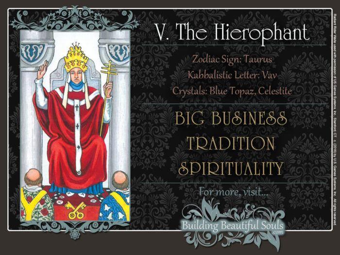 The Hierophant Tarot Card Meanings Rider Waite Tarot Deck 1280x960