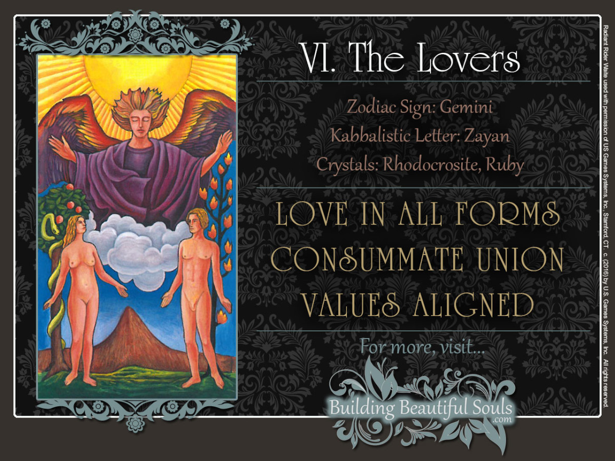 The Lovers Tarot Card Meanings Rider Waite Tarot Deck 1280x960