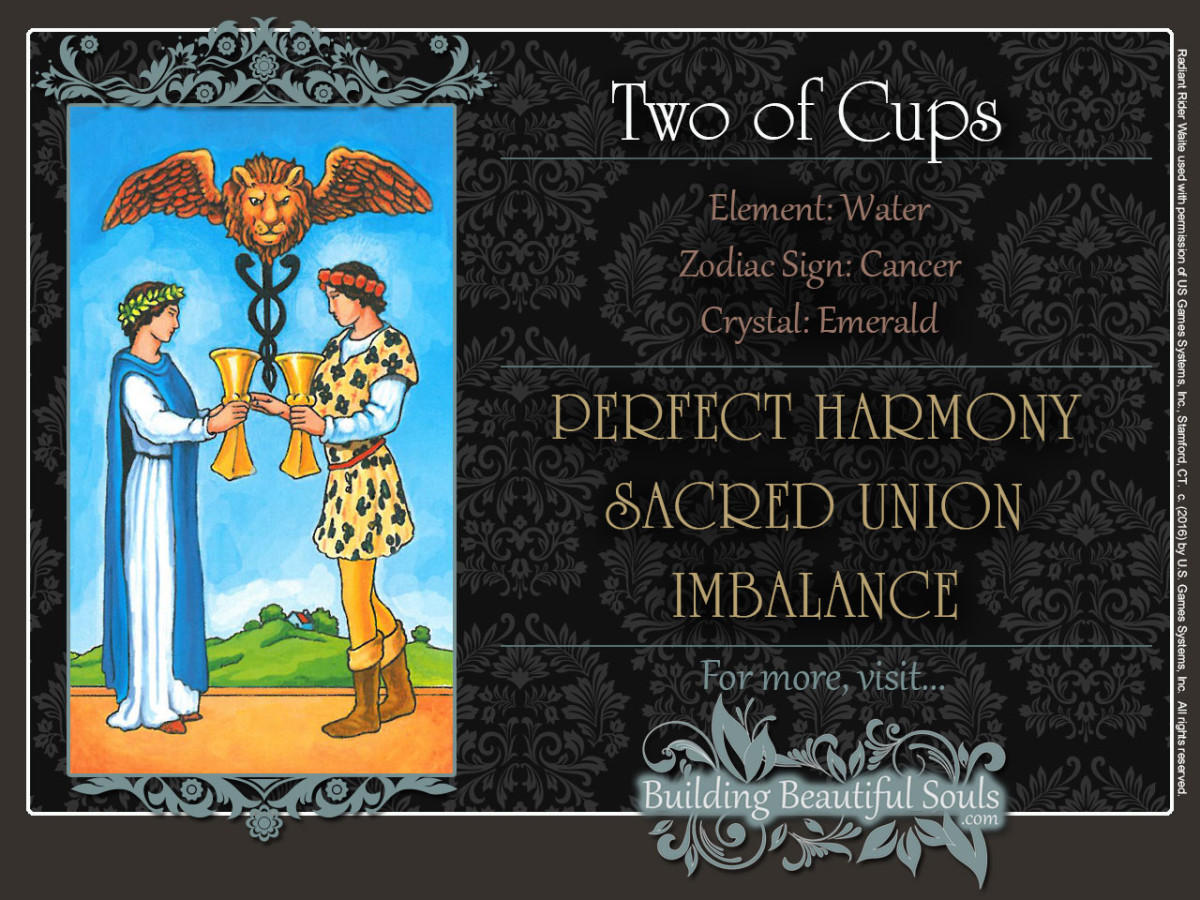 Two  of  Cups  Tarot  Card  Meanings  Rider  Waite  Tarot  Deck