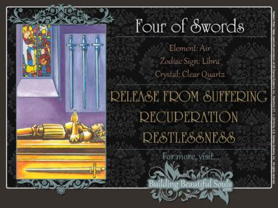 Four of Swords Tarot Card Meanings Rider Waite Tarot Deck