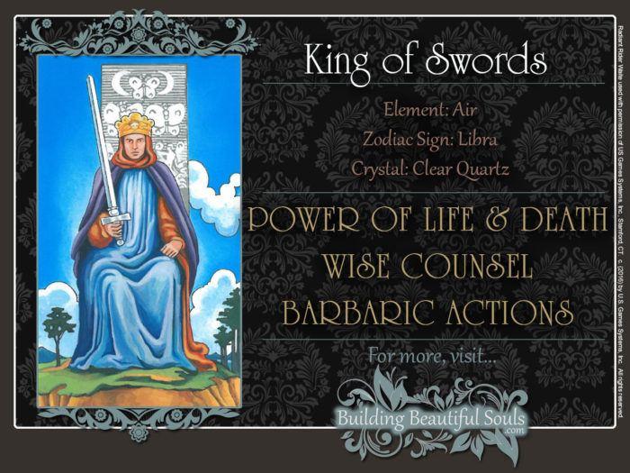 King of Swords Tarot Card Meanings Rider Waite Tarot Deck
