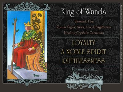 King of Wands Tarot Card Meanings Rider Waite Tarot Deck