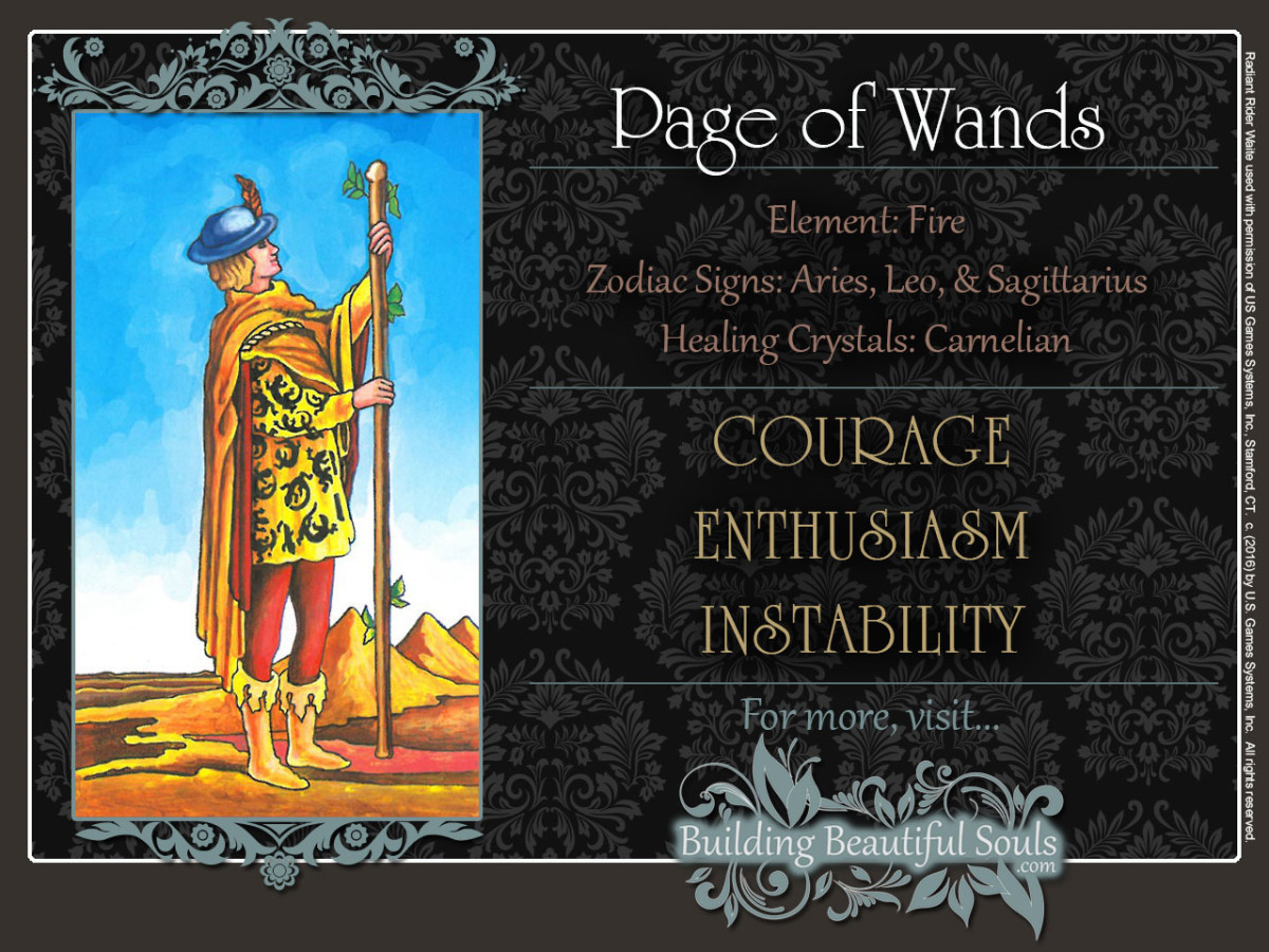 Page  of  Wands  Tarot  Card  Meanings  Rider  Waite  Tarot  Deck