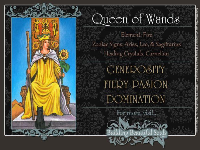 Queen of Wands Tarot Card Meanings Rider Waite Tarot Deck