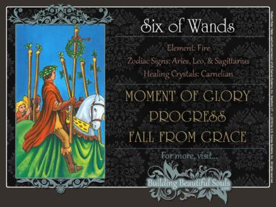 Six of Wands Tarot Card Meanings Rider Waite Tarot Deck