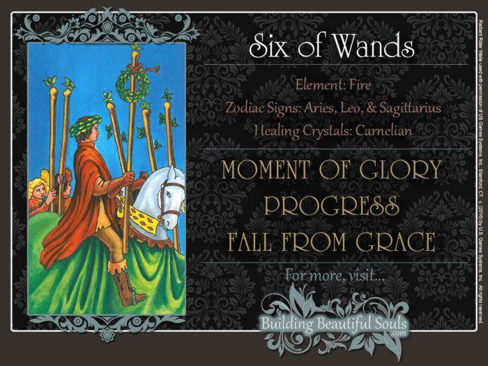 Six of Wands Tarot Card Meanings Rider Waite Tarot Deck