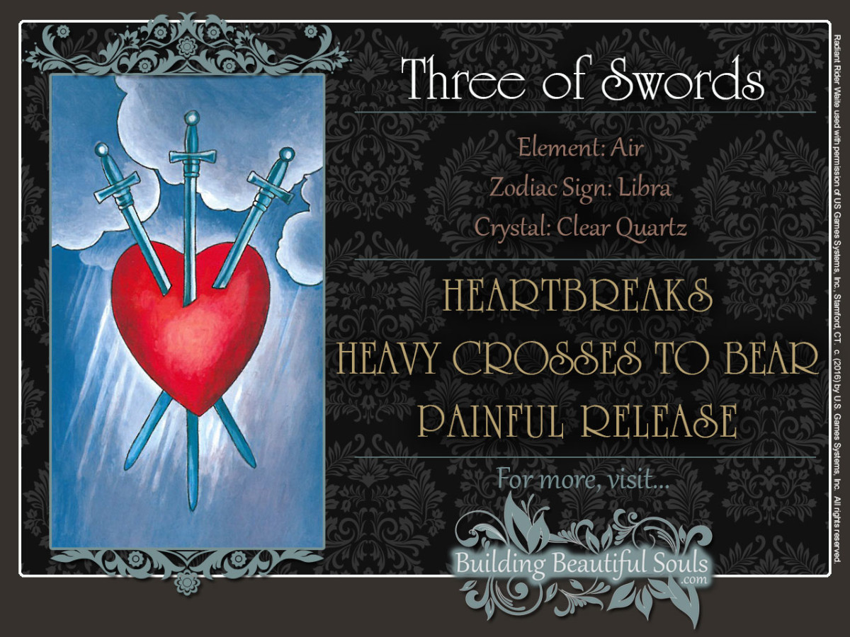 The Three Of Swords Tarot Card Meanings