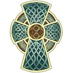 Celtic Cross Decorated With Celtic Knotwork and Symbols 150x150