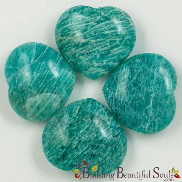 Healing Crystals Stones Amazonite Hearts New Age Store 1000x1000