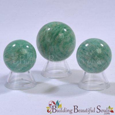 Healing Crystals Stones Amazonite Spheres New Age Store 1000x1000