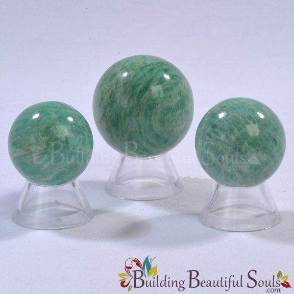 Healing Crystals Stones Amazonite Spheres New Age Store 1000x1000