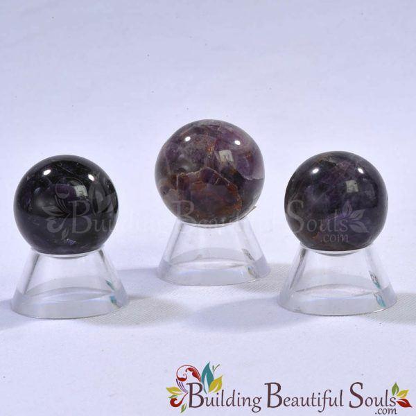 Healing Crystals Stones Black Amethyst Spheres New Age Store