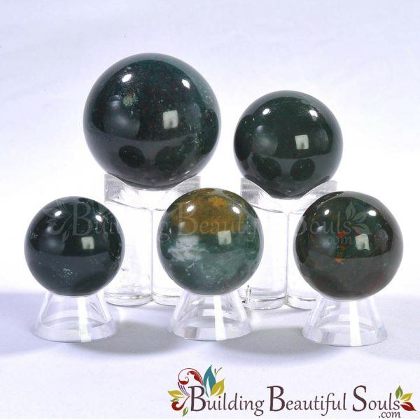 Healing Crystals Stones Bloodstone Spheres New Age Store 1000x1000
