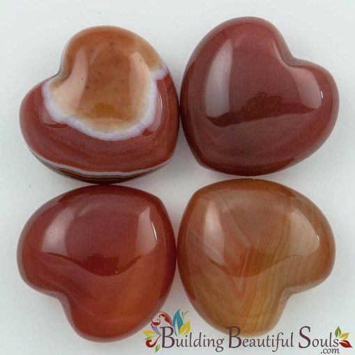 Healing Crystals Stones Carnelian Hearts New Age Store 1000x1000