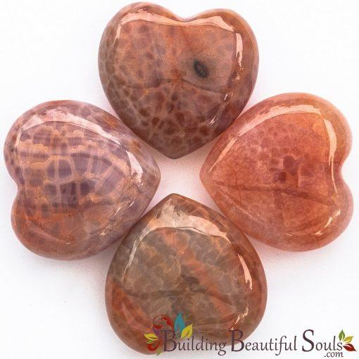 Healing Crystals Stones Fire Agate Hearts New Age Store 1000x1000