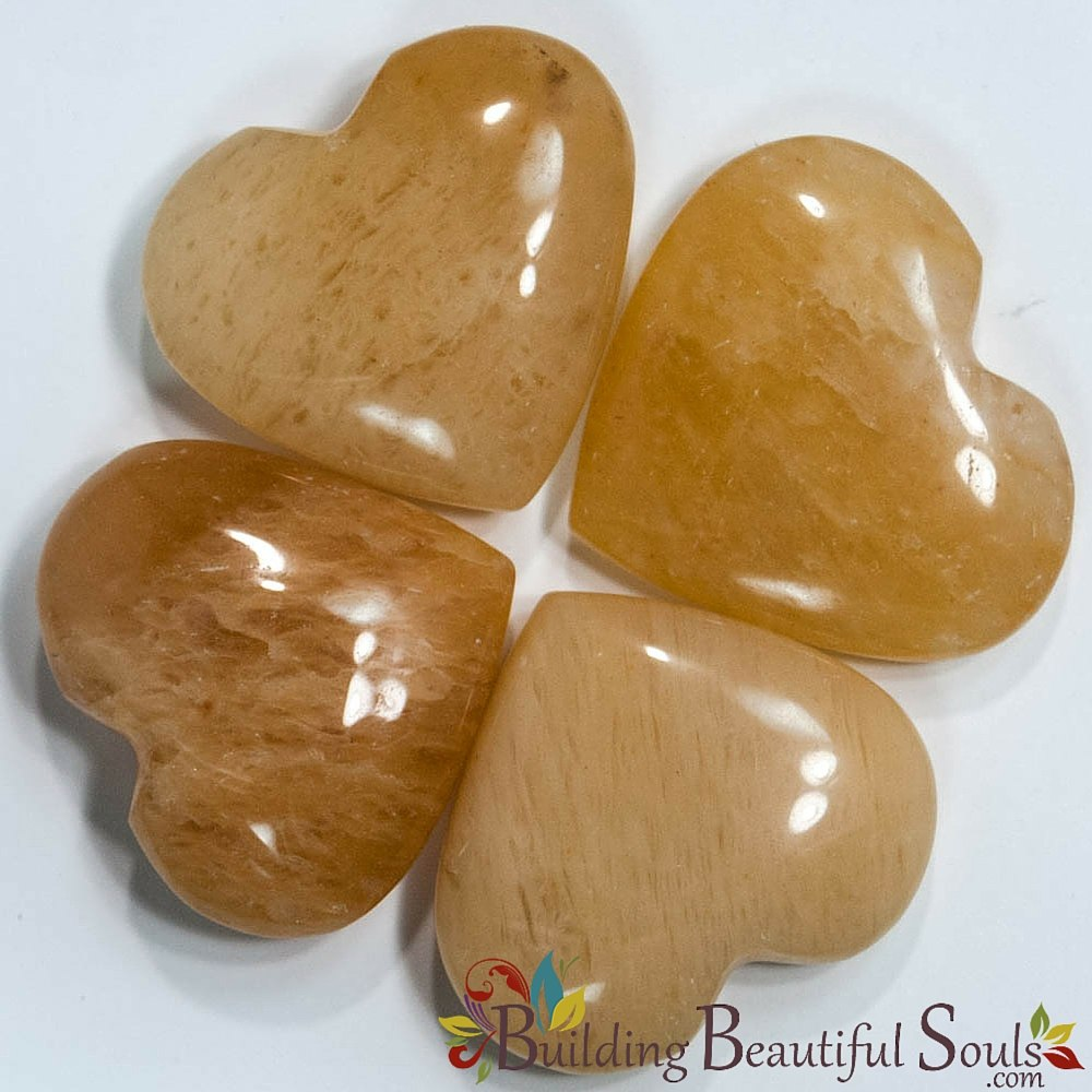 Gold Quartz Hearts (N  India near Himalayas)