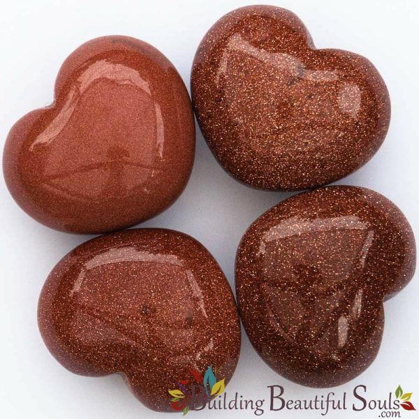 Healing Crystals Stones Goldstone Hearts New Age Store 1000x1000