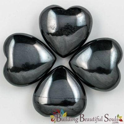Healing Crystals Stones Hematite Hearts New Age Store 1000x1000