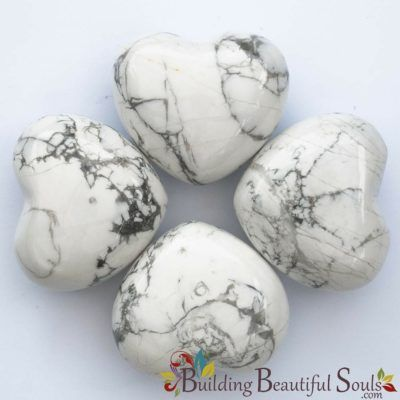 Healing Crystals Stones Howlite Hearts New Age Store 1000x1000
