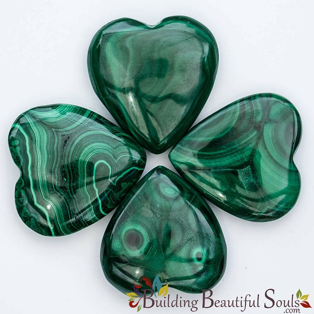 malachite hearts healing crystals stones malachite meaning
