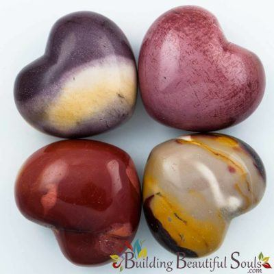 Healing Crystals Stones Polished Mookaite Hearts New Age 1000x1000