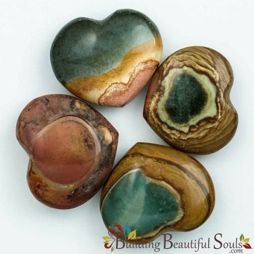 Healing Crystals Stones Polychrome Jasper Hearts New Age Store 1000x1000