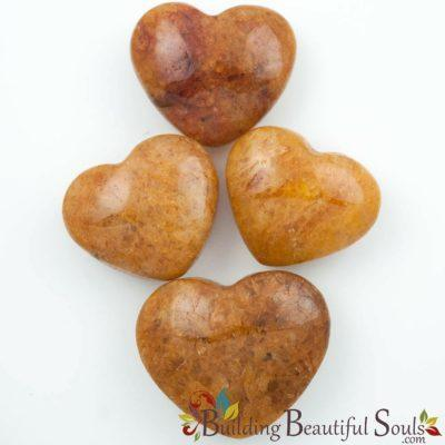 Healing Crystals Stones Red-Gold Quartz Hearts New Age Store 1000x1000