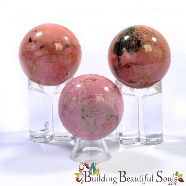 Healing Crystals Stones Rhodonite Spheres New Age Store 1000x1000