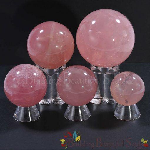 Healing Crystals Stones Rose Quartz Spheres Balls New Age 1000x1000