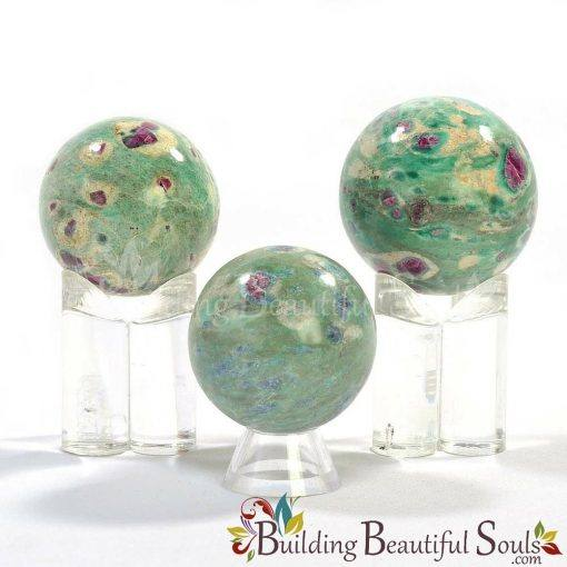 Healing Crystals Stones Ruby Fuchsite Spheres New Age Store 1000x1000