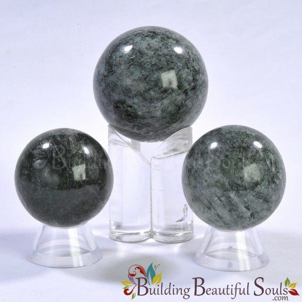 Healing Crystals Stones Seraphinite Spheres New Age Store