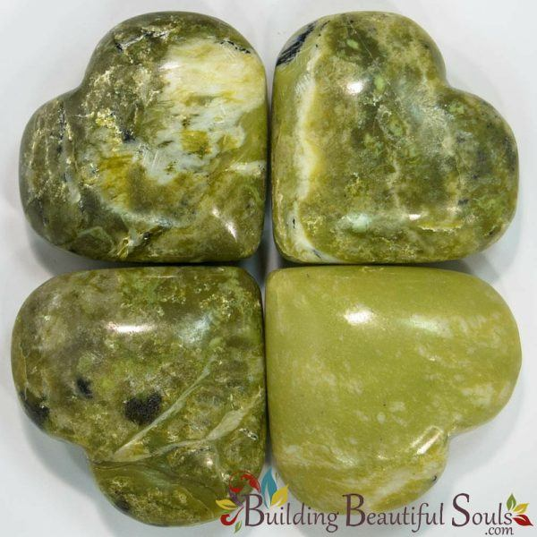 Healing Crystals Stones Serpentine Hearts New Age Store 1000x1000
