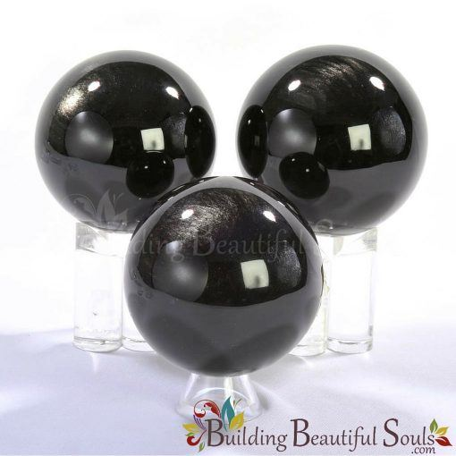 Healing Crystals Stones Silver Sheen Obsidian Spheres New Age Store 1000x1000