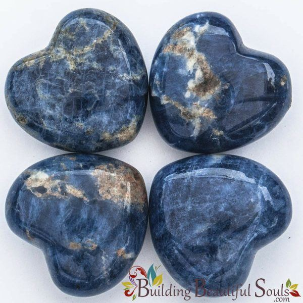 Healing Crystals Stones Sodalite Hearts New Age Store