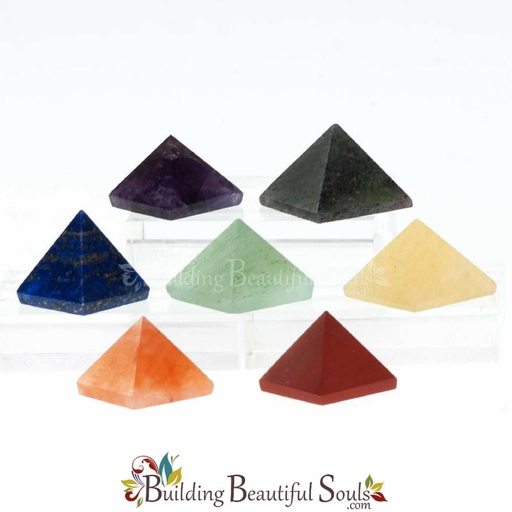 Mini-Pyramids Chakra Stones Set (India)