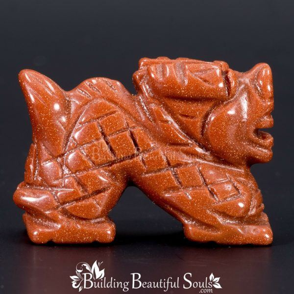 Goldstone Dragon Spirit Totem Power Animal Carving