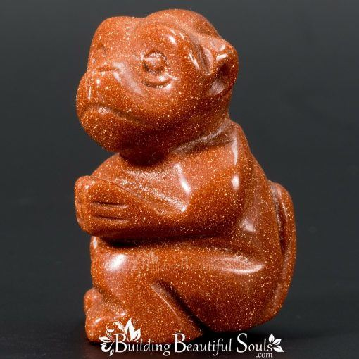 Goldstone Monkey Spirit Totem Power Animal Carving 1000x1000